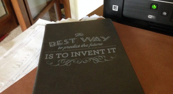 """Book that says """"The best way to predict the future is to invent it"""""""
